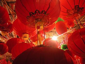 Big Red Lantern by Yining Zhang
