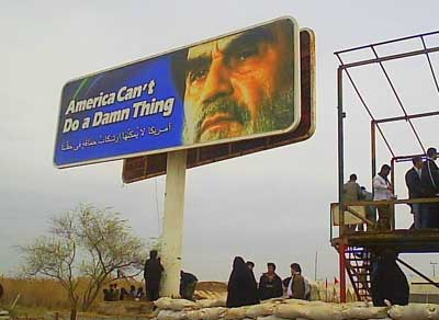 Billboard at Iran/Iraq border