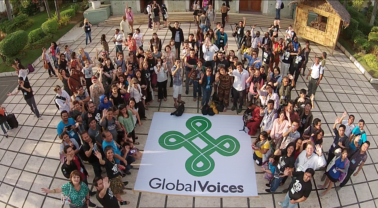 Screen grab from a video taken on  January 25, 2015 at the Global Voices 2015 Summit in Cebu, Philippines.  Video by Global Voices and PR Works.