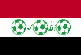 Iraq Football Flag by Baghdad Connect