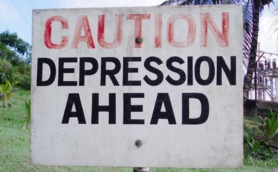 Depression Ahead Sign