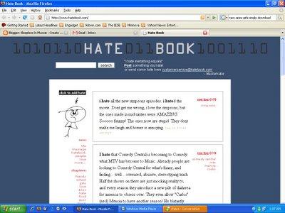 Uma imagem da tela do Hatebook do blogueiro de Omã Sleepless in Muscat