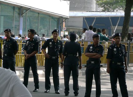 Police Near British High Commission