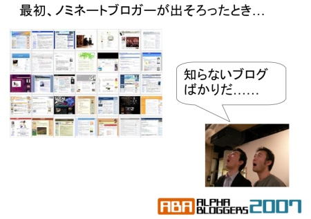 Alpha Bloggers 2007: Surprise at all the unknown Japanese Blogs