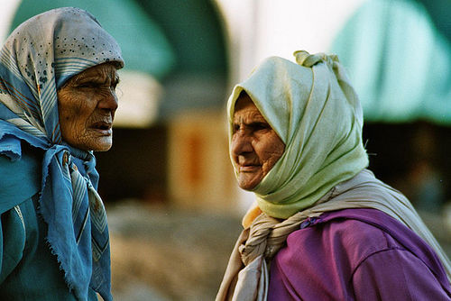 Elderly Moroccan women