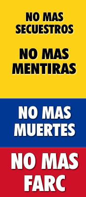 No Mas Farc official banner