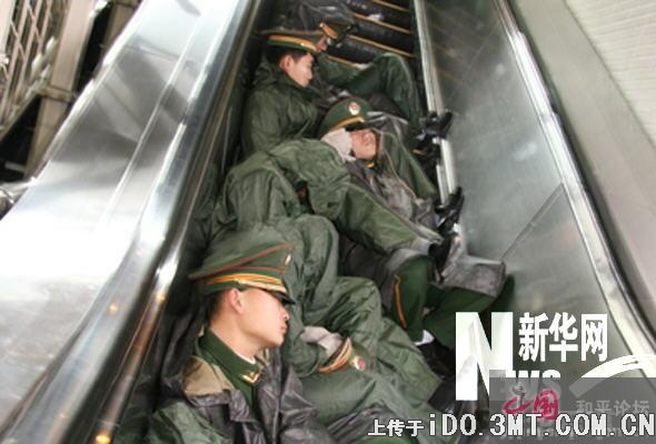 soldier sleeping