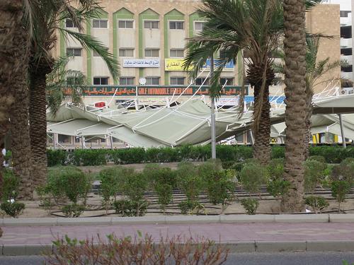 Car park damaged in Kuwaiti storm