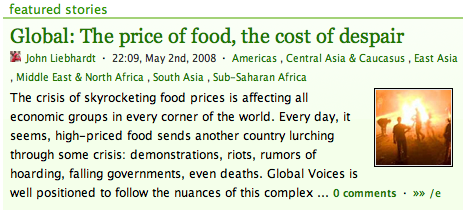 Featured post on Global Food Crisis