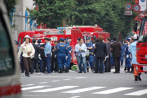 Полиција и болничари