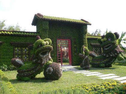 Градинарски скулптури направени специјално за олимпијадата