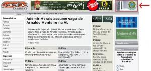 Банер на сенатот на сајтот www.paraiba.com.br