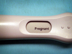 Positive Pregnancy Test, by Amber B McN in Flickr
