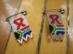 rubans sud-africains contre le SIDA
