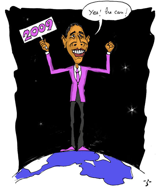 Caricatura di Obama in Tunisia