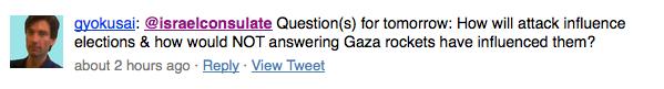 La domanda di gyokusai su Twitter