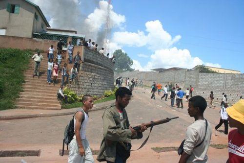 Mercenary with rifle in Madagascar (jan)
