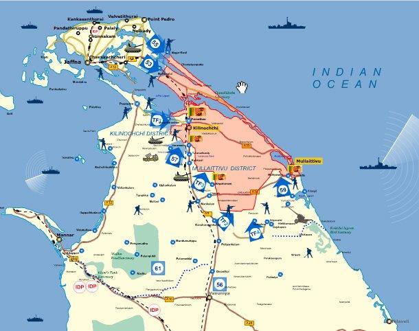 Mappa della guerra in Sri Lanka di Namal