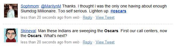Gli Oscar su Tweeter