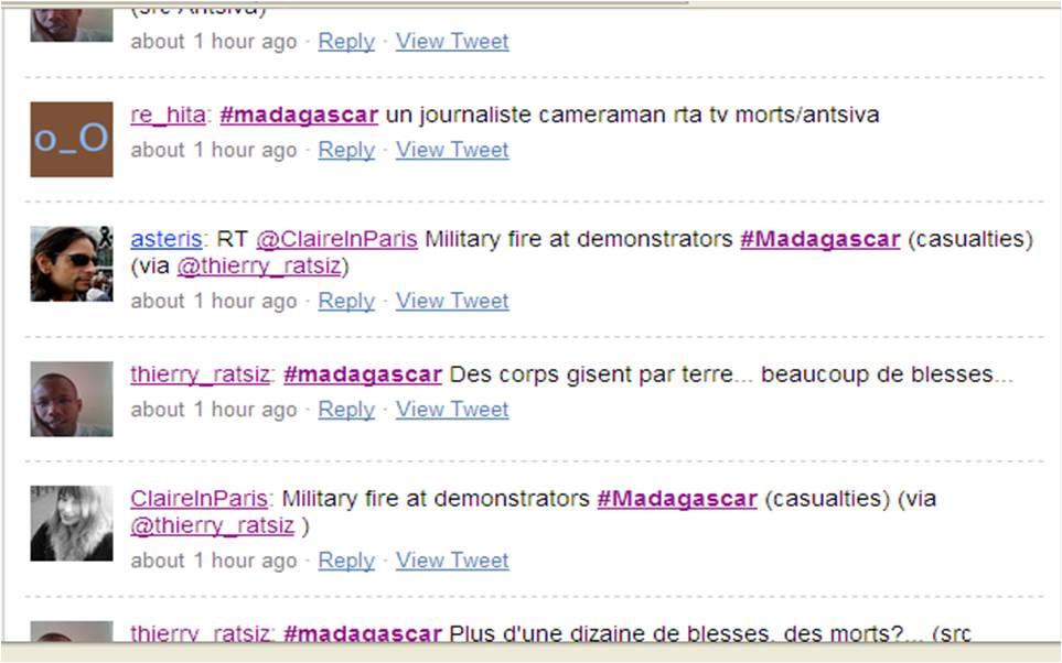Schermata da twitter