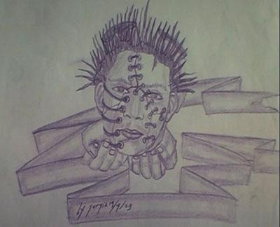 Sergio da Costa's self portrait