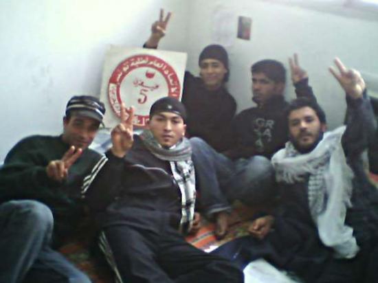 Foto degli studenti in sciopero della fame