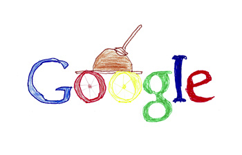 Google doodle by Ahmed Taha, 11 years old.