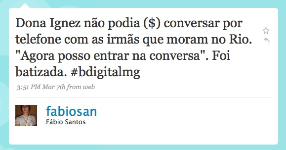 Twitter message