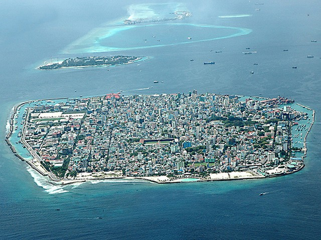 Male, the capital of Maldives. Image by Flickr user mode (http://www.flickr.com/photos/mashafeeg/397839215/)