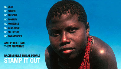 Survival International's online campaign to Stamp Out racism against tribal people