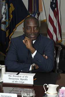 Joseph Kabila, President of the Democratic Republic of Congo since 2002
