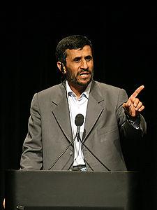 Presidente iraniano Mahmoūd Ahmadinejād
