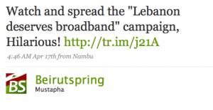broadband tweet