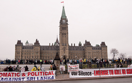 A Call For Intervention - Tamil protests in Ottawa. Image by Mikey G Ottawa and used under a Creative Commons License
