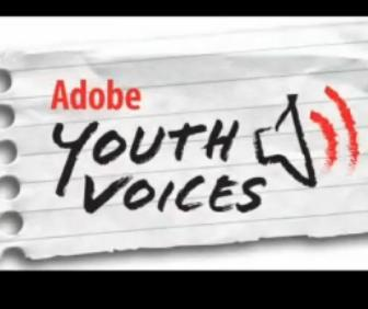 Le logo d'Adobe Youth Voices