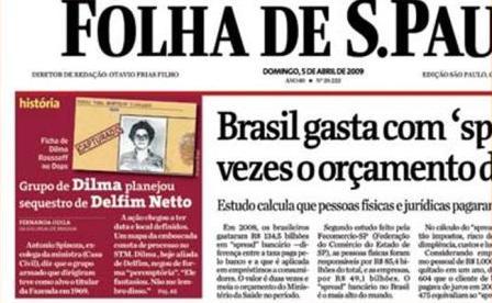 Capture décran de larticle de journal sur le blog de Paulo Henrique Amorim