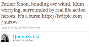 One of Queen Rania's Tweets