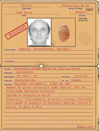 The fake file of São Paulo governor José Serra