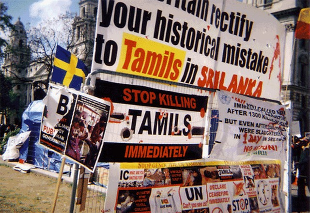 Tamil protest in london, Image from Flickr by danie, under a CC license