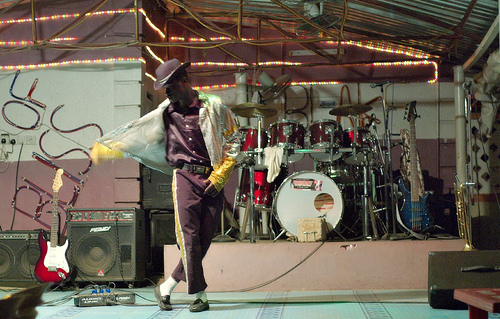 A Nigerian performer impersonates Michael Jackson at a concert in Abuja, Nigeria. Photo courtesy of N.R. on Flickr.