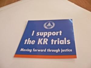Tribunal support sticker