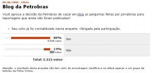 Folha de São Paulo Poll online since June 09. Screenshot, June 16th.
