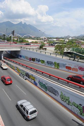 graffiti attack on monterrey