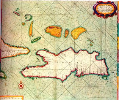 Map of Hispaniola. From Traveling Man's Flickr and used under a Creative Commons license. http://www.flickr.com/photos/travelingman/2816126909/