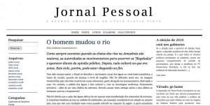 A screenshot of Jornal Pessoal – Pinto's personal newspaper