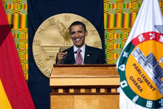 US President Barack Obama addresses the Ghanaian Parliament in Accra (Official Photo)
