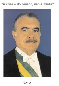 Official picture of 31. Brazilian President José Sarney/Agência Senado/modified by Nova Corja