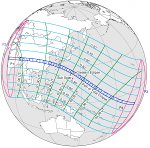 Solar Eclipse Global Visibility - July 22, 2009