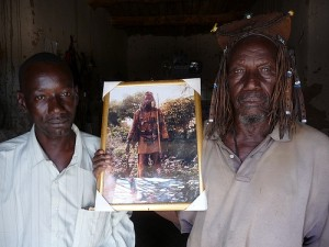 Boukary (left) and his father in hunting gear