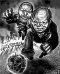 A Cartoon of Kenyan Politicians by Mwaura Kirore
